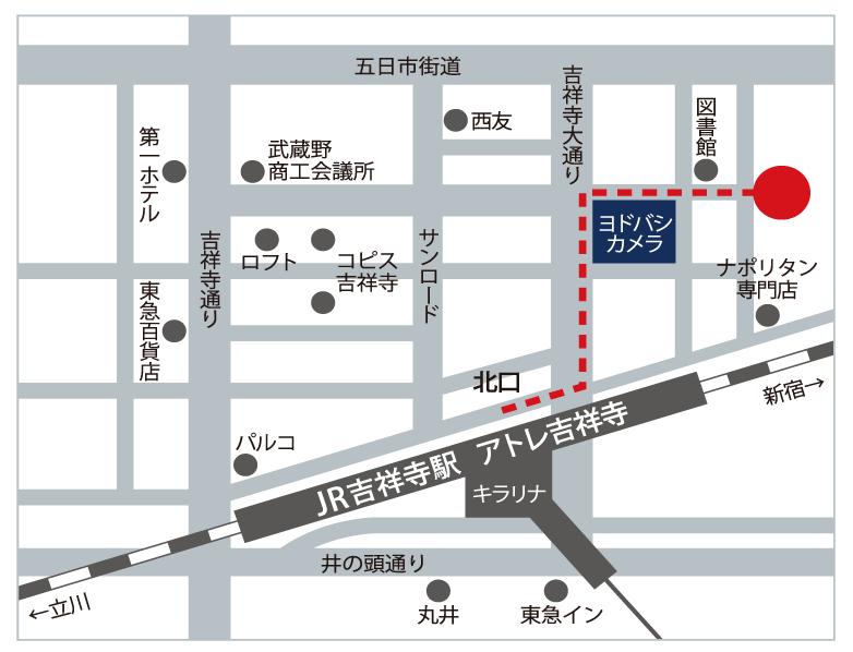 i-office吉祥寺 アクセスマップ